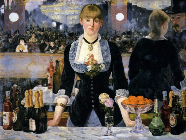 """At the Bar of the Folies Bergere,"" 1882, Courtauld Institute, London"