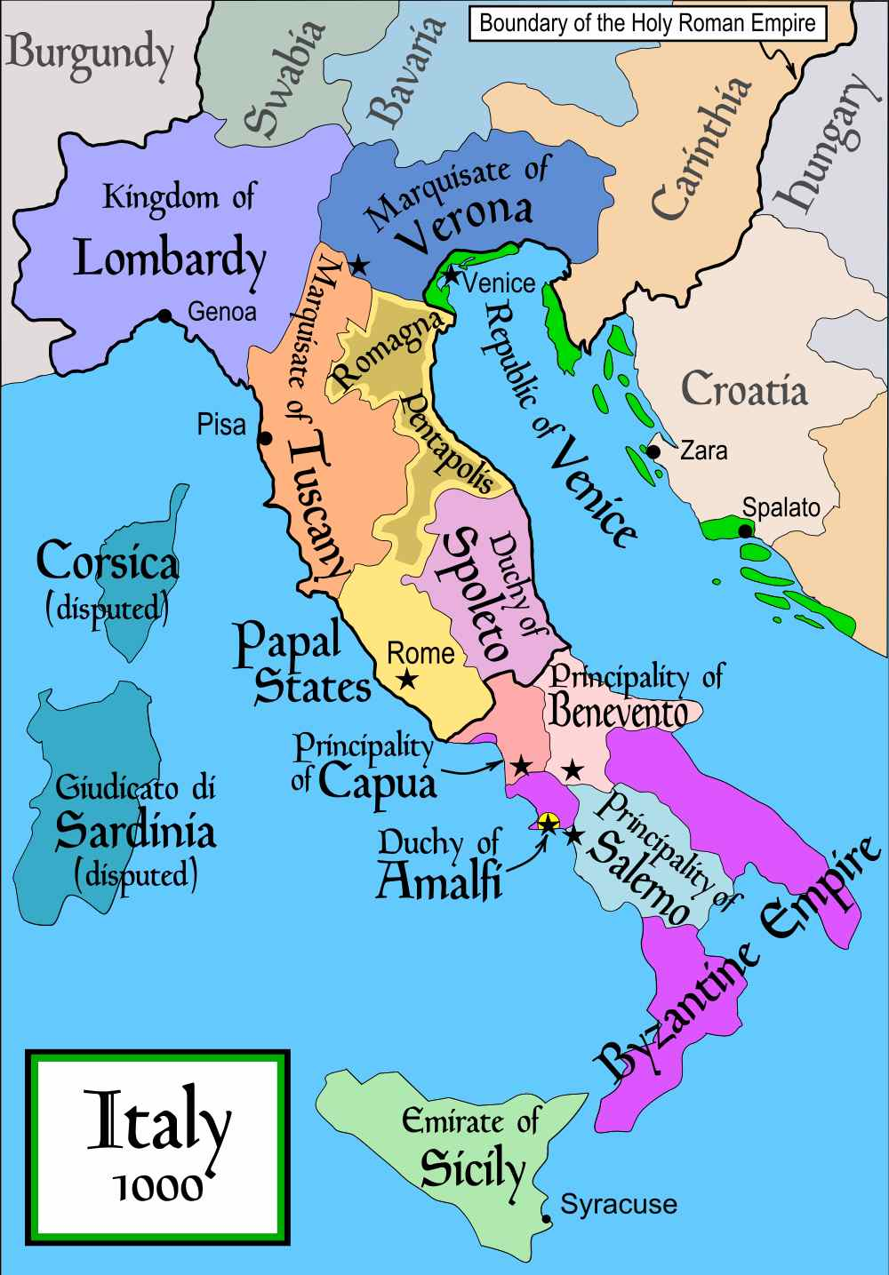 Italy In The Year 1000 Institute For The Study Of Western Civilization