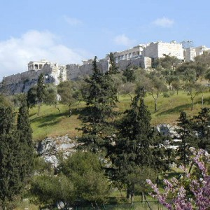 The Acropolis. The ancient city-center had been totally devestated by the Persian Wars and so soon after 480, the city began an ambitious project to rebuild the Acropolis. Marble was quarried about 10 miles from the city and the fifty-year project began under the supervision of the scuptor Phidias.