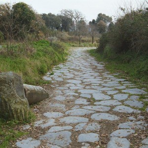 This is an original Roman road on the acropolis.
