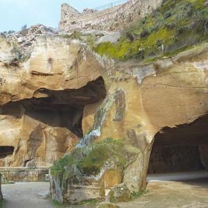 The Acropolis at Cumae is made of tufa rock.