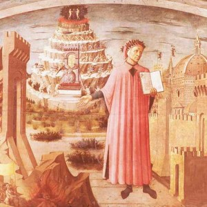 A painting of Dante and his poem by Domenico di Michelino now in the Duomo of Florence.