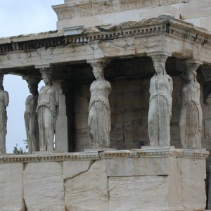 The Parthenon. At the center of the Acropolis was the temple to the protectress of Athens, the goddess Athena, built between 447-432 B.C.