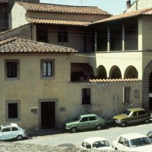 The house where Petarch was born in the Via dell' Orto of Arezzo.