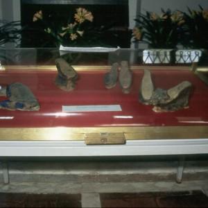 On display inside the Casa del Boccaccio Museum are Boccaccio's shoes.