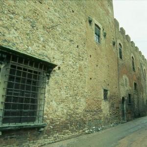 Looking up Via Boccaccio, the central street in Certaldo, towards the front door of Boccacio's house.