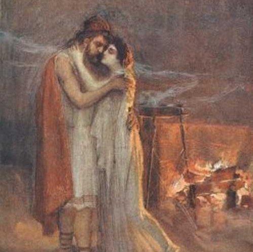 Penelope and Odysseus reunite