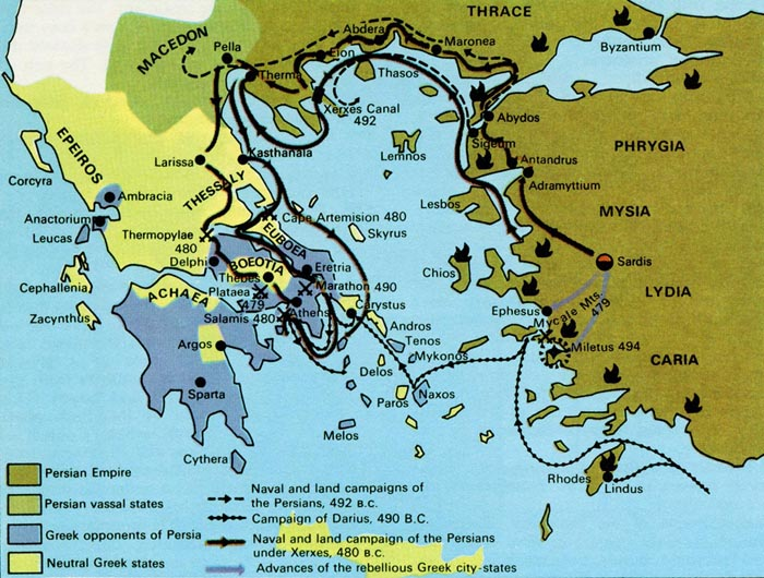 Ancient Greece Map Persian Empire.The Persian Wars Institute For The Study Of Western Civilization