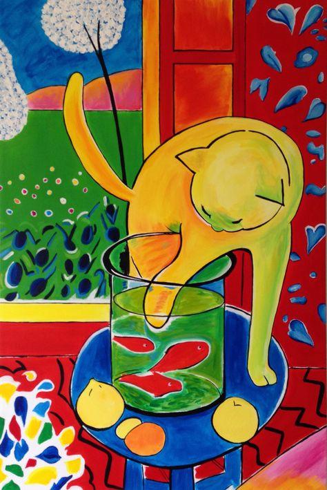 Cat with Red Fish, Henri Matisse