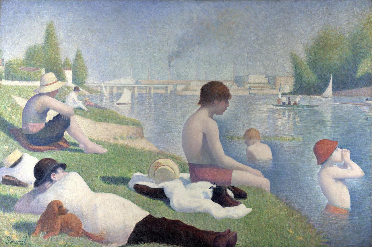 Seurat, Bathers at Asnières, National Gallery, London