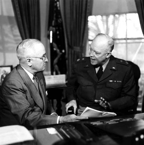 Harry S. Truman with Dwight D. Eisenhower
